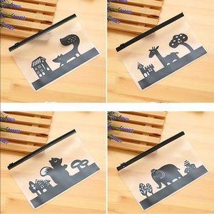 Cute transparent storage/pencil case